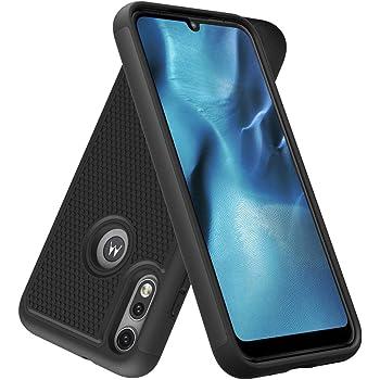 Dahkoiz Case for Motorola Moto E 2020 Case, Sturdy Durable Armor Defender Cover Dual Layer Hybrid Protective Phone Case for Motorola Moto E 2020, Black