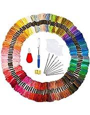 TICIOSH Hilo de Punto de Cruz 72 Kit 50 Colores Hilos de Bordar Letion Madejas de Hilos Kits de bordado para Tejido de Punto de Cruz, Hilo de Pulsera, Conjunto de Hilo de Bordado
