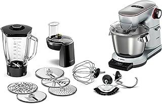 Bosch 博世MUM9DT5S41 厨房料理机 Optimum,智能打发感控,不锈钢搅拌碗,7档速度,1500 W,钛银