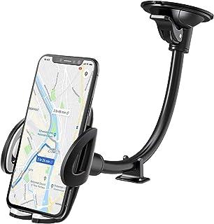 IZUKU Support Telephone Voiture Ventouse Support Portable Voiture pour Pare-Brise avec Rotation 360° pour Smartphone, GPS ...