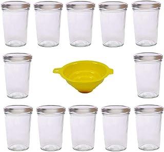 comprar comparacion Viva Haushaltswaren - Tarros de Cristal para Mermelada (12 Unidades Capacidad de 150 ml Incluye Tapa de Color Plateado y E...