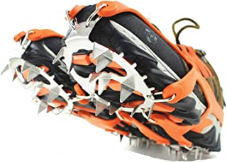 18 Spikes Crampons Ice Snow Grips Traction Cleats System Safe Protect for Walking, Jogging, or Hiking on Snow and Ice