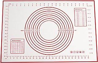 CYWVYNYT Tapis de cuisson en silicone - Réutilisable - Anti-adhésif - Antidérapant - Avec mesure - 60 x 40 cm
