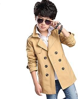 Motteecity Boys Buttons Belt Dress Coat
