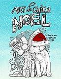 Art de chien Noël: Un livre de coloriage sur le thème des animaux pendant les fêtes, pour les amoureux de chiens, chats, cochons et chèvres