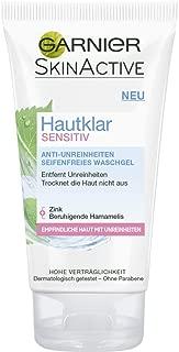 Garnier SkinActive Pure Active Sensitive Anti-Blemish Soap-Free Face Gel Wash 150 ml/5 fl oz