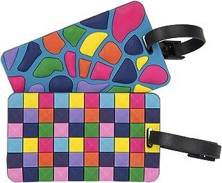 Travelon Set of 2 Luggage Tags, Jewel Mosaic