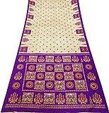 PEEGLI Indisch Ethnisch Vintage Sari Sahne Frau Wickeln Die