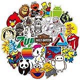 WeeDee Autocollant Lot Graffiti Autocollants Stickers vinyles pour Ordinateur Portable, Enfants, Voitures, Moto, vélo, Skateboard Bagages, Bumper Sticker Hippie Autocollants Bomb étanche (B-100Pcs)