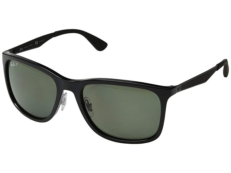 Ray-Ban RB4313 58 mm. (Black/Polar Green) Fashion Sunglasses