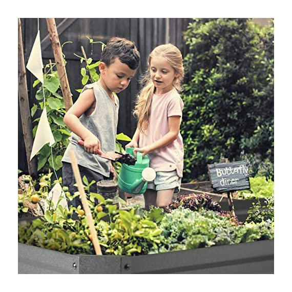 Blumfeldt nova high grow garden bed: raised growing bed, material: wpc with uv, rust and frost protection, wood look… 8 weatherproof: sturdy frame construction lets this garden weather any storm. The bed is made of steel corrugated iron and is protected against weather with a special 120 g / m² zinc-aluminium weather-shield-coating. Fast installation: the installation of the blumfeldt raised bed is straightforward and fast. Versatile: tasty, fresh and local: with this raised garden bed you can grow a variety of fruits and vegetables.
