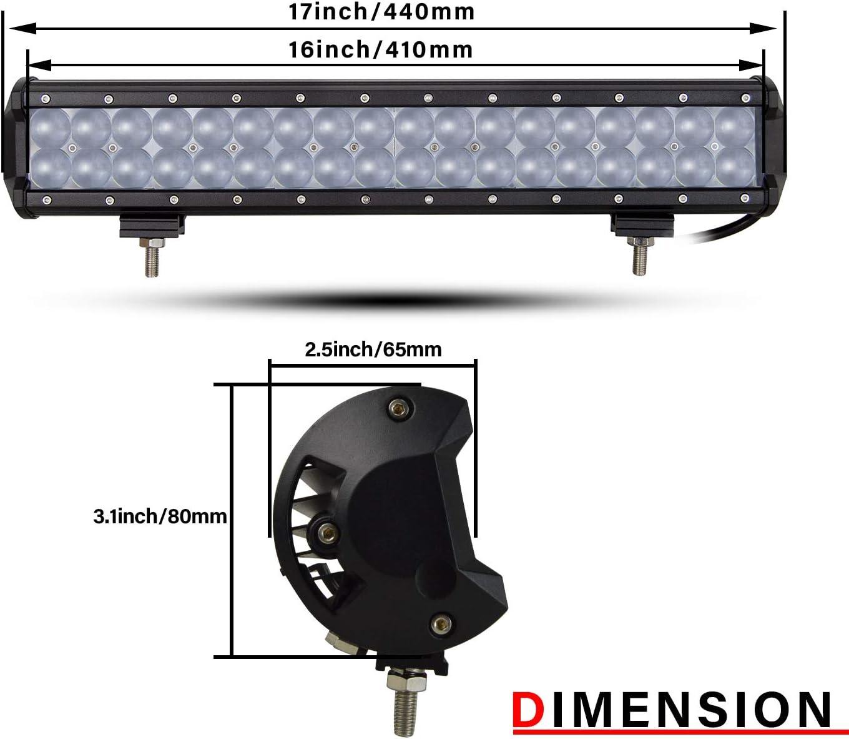 AUXTINGS 22 inch 144W LED Light bar Fish Eye High Brightness Lens Spot Flood Combo IP67 Work Lights Off Road Light Fit for Pickup Jeep SUV 4X4 ATV UTE etc