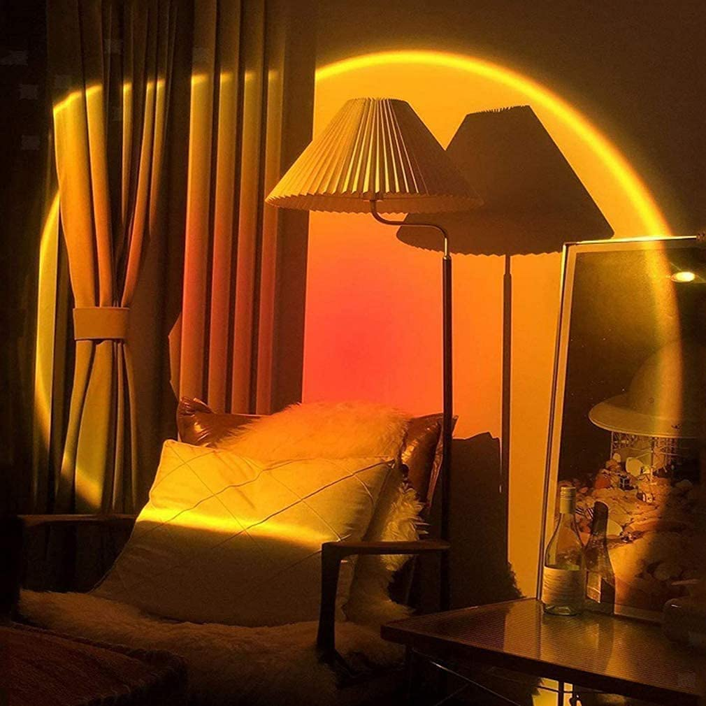 Buy Night Light Projector Led Lamp 90 Degree Rotation Rainbow Projection Lamp Romantic Led Light For Kids Adults Sunset Night Light For Home Party Living Room Bedroom Decor Sunset Red Online In Turkey B08w3dhjp2