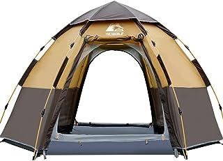 HEWOLF Pop-up tält för 3 till 4 personer automatisk öppning hexangulärt hydrauliskt dubbelskikt tält – ultrastort, vattent...