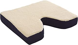 Essential Medical Supply Fleece Covered Coccyx Cushion, 18 Inches X 16 Inches X 3 Inches