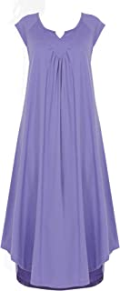 Nightgowns for Women Plus Size Sleepwear Womens Cotton Pajamas V Neck Lounge Wear