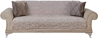 Chiara Rose Couch Covers for Dogs Sofa Cushion Slipcover 3 Seater Furniture Protectors Futon Cover, Sofa, Acacia Beige