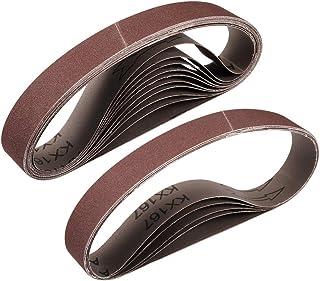 """1""""x 21"""" 180 Grit slipbälte Aluminiumoxid sandpappersbälten för bärbar rems slipmaskin träfinish metall gips polering slipn..."""