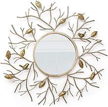 Wall Mirror Decorative 3D Decor Birds Mirror Gold Foil Do Old Process Mirror for Living Room, Balcony, Bathroom, Bedroom, ...