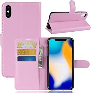 iPhone Xs Max Wallet Case,PU Leather Phone Case [Card Slot] [Flip] [Stand] Carry-All Case [TPU Interior Protective Case] [Magnetic Closure] for iPhone Xs Max, Pink