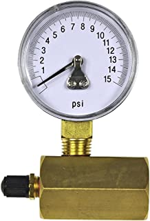 Danco Gas Test Gauge for 0-15 psi at 1/10 Increments, Chrome-Plated (94352)