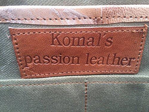 KPL 18 INCH Leather Briefcase Laptop Messenger Bag Satchel Office - Best Briefcases For Men