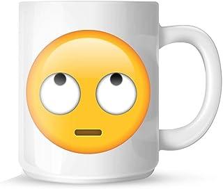 New Eye Roll Emoji Printed Mugs Gifts Presents Coffee Tea Secret Santa 11OZ