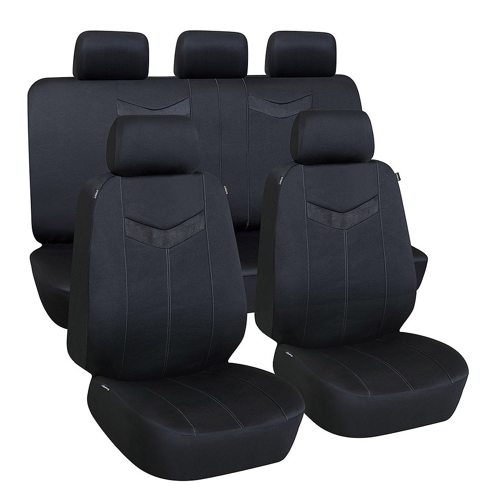 Elantrip Waterproof Rear Bench Seat Cover Water Resistant Universal Fit Seat Protection Quick Install for Cars SUV Truck Black 3 PC