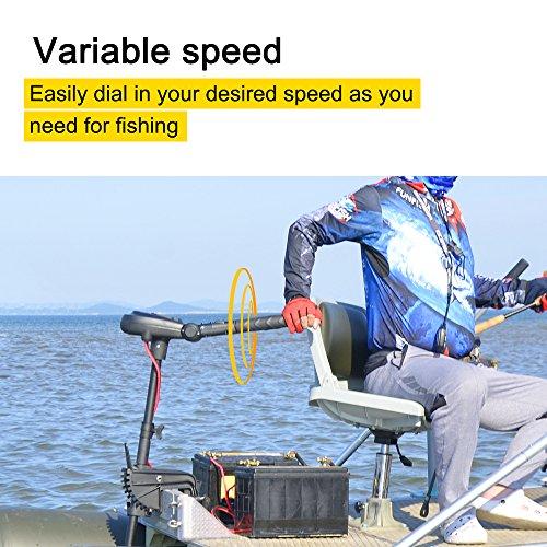 Variable speed control trolling motor