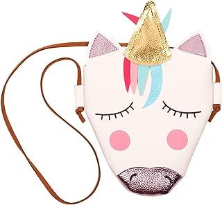 Slowera Baby Toddler Little Girls PU Leather Unicorn Crossbody Bag