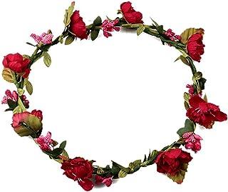 289bb744 Amazon.es: coronas de flores para el pelo - Rojo