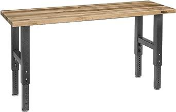 Gladiator GAWB06MTZG 6' Adjustable Height Maple Workbench with Hammered Granite Finish