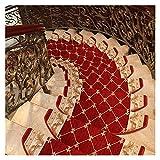 JQAM 2PCS Tappeti Antiscivolo per Scale, tappetini per tappeti Adesivi per tappeti Europei ad Arco per Bambini Anziani e Animali Domestici (Color : Red Wine, Size : 16)