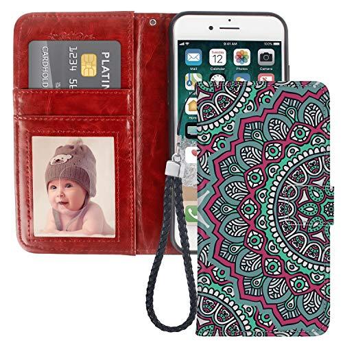 Funda tipo cartera para iPhone 6 Plus (2014), iPhone 6s Plus (2015) (5.5 pulgadas)