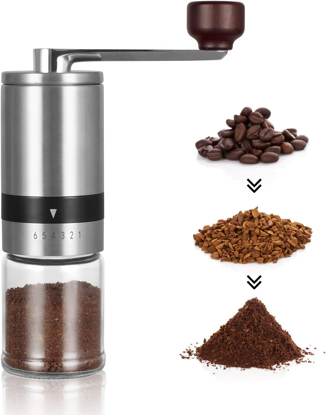 Manual Coffee Grinder - Hand overseas Mill Ad Charlotte Mall Ceramic 6 Burrs with