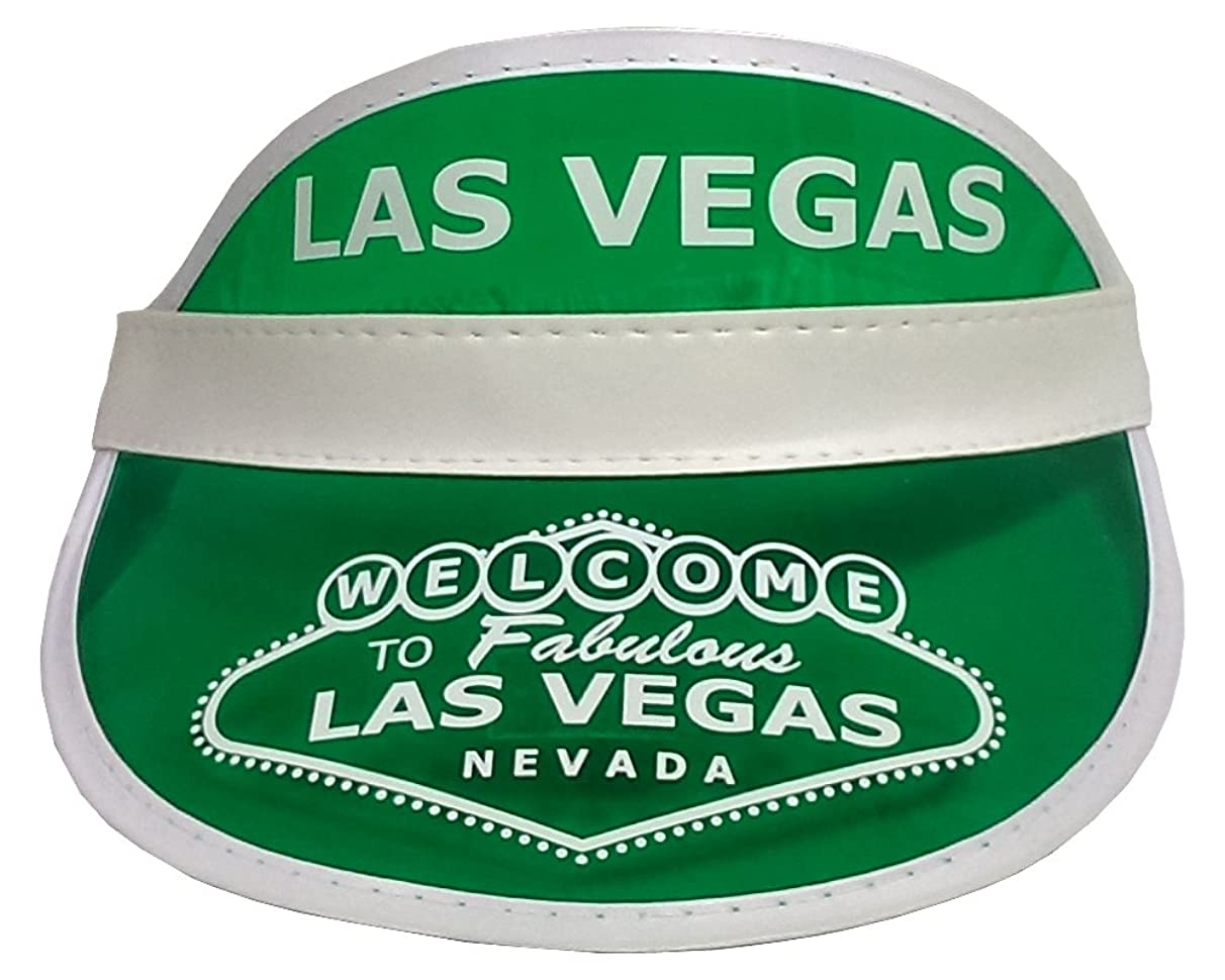Las Vegas Green Dealer Visor - One Size Fits Most - Expandable Headband - Great Gift