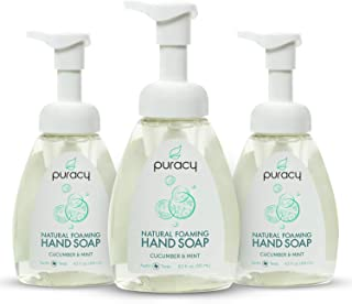 Puracy Natural Foaming Hand Soap, Sulfate-Free Hand Wash, Cucumber & Mint, 8.5 Ounce
