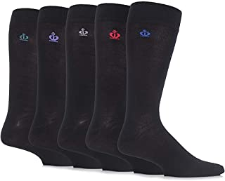 Jeff Banks Men's 5 Pair Chelmsford Plain Bamboo Socks