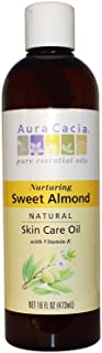 Aura Cacia Natural Skin Care Oil Sweet Almond - 16 Oz, 2 Pack