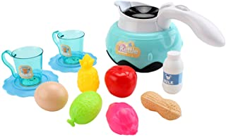 Ametoys 23PCS Kitchen Play Toy Kids Pretend Play Kettle with Play Food Fruits Cooking Utensils Toy Cutlery Early Education...