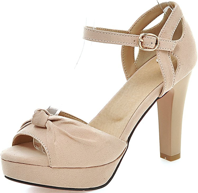 KingRover Women's Platform Ankle Strap High Heel - Peep Toe Sandal - Sexy Chunky Dressy Heel Pumps