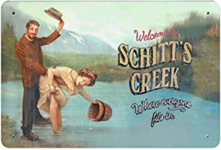 """Vintage Poster Metal Sign - Welcome to Schitt's Creek Metal Tin Sign Wall Decor 12"""" X 18"""""""