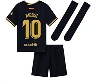 2020-2021 Season Kids/Youths Away Soccer Jersey/Short/Socks Colour Black