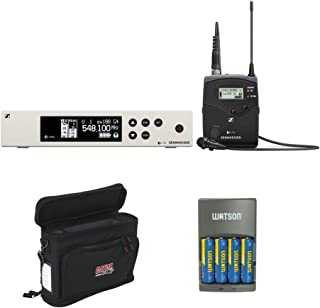 Sennheiser ew 100 G4-ME 2-II Wireless System with ME 2-II Omnidirectional Lavalier Microphone A1: (470 to 516Mhz), GM-1W Wireless Mobile Pack & 4-Hour Rapid Charger