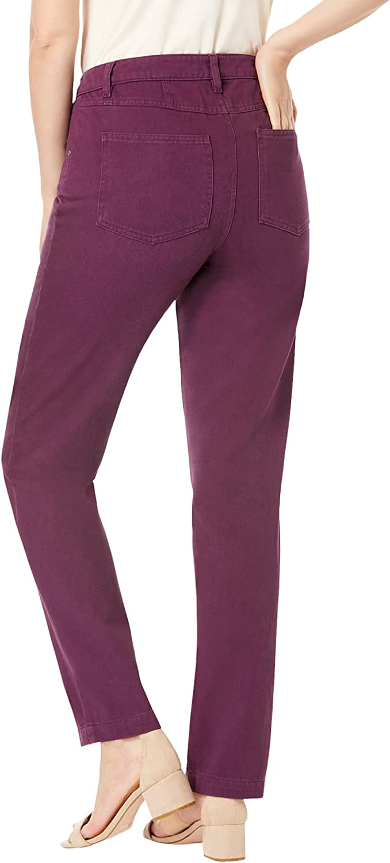 Jessica London Women's Plus Size Tall Classic Cotton Denim Straight Jeans 100% Cotton