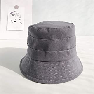 ZiWen Lu Japanese Fisherman hat Lady hat Korean Wave of Literary Leisure Wild Street Outdoor Tourism Cotton Cap Sun Shade (Color : Grey, Size : One Size)
