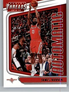 2018-19 Panini Threads Automatic Basketball #4 James Harden Houston Rockets Official NBA Trading Card From Panini