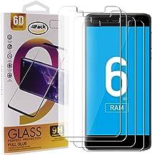 Guran 4 Paquete Cristal Templado Protector de Pantalla para Vernee Mars Pro Smartphone 9H Dureza Anti-Ara?azos Alta Definicion Transparente Película