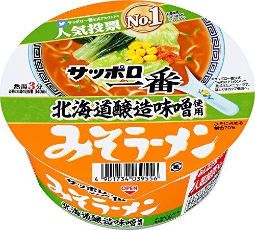 サッポロ一番 みそラーメンどんぶり 北海道醸造味噌使用 78g ×12箱