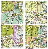 Berlin, Vier Stadtpläne im Vergleich, Ergänzungspläne 1840, 1953, 1988, 1950'Germania': Kartonmappe 23 x 17 cm mit 4 Karte je 49 x 33 cm, gefalzt